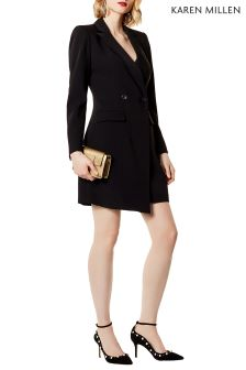 Karen Millen Black Soft Tailored Dress