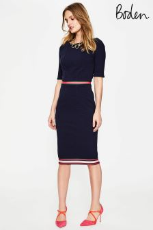 Boden Navy Ottoman Dress