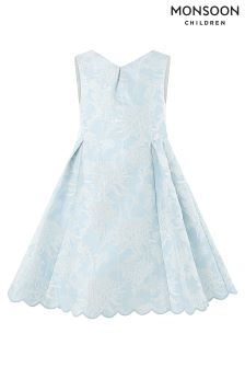 Monsoon Blue Eletta Jacquard Dress