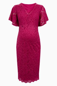 Maternity Stretch Lace Dress