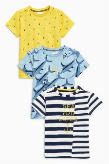 Nautical Marlin Short Sleeve T-Shirts Three Pack (3mths-6yrs)
