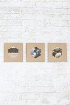 Set of 3 Geo Aperture Frames