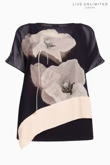 Live Unlimited Black Poppy Kaftan