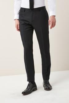Check Slim Fit Tuxedo Suit: Trousers