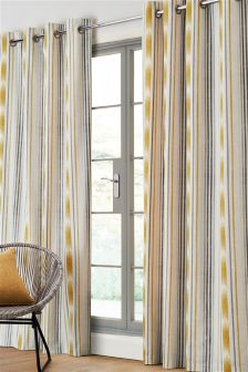 Ikat Stripe Studio* Eyelet Curtains