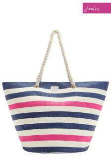 Joules Navy Stripe Summer Bag