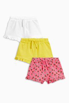 Apple Shorts Three Pack (3mths-6yrs)