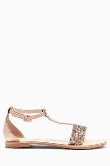 River Island Pink Glitter Jelly Shoes