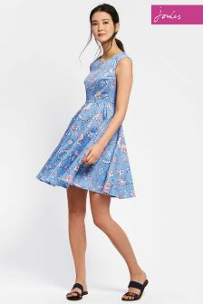 Joules Blue Floral Amelie Dress