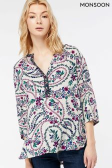 Monsoon Cream Naomi Mae Print Top