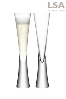 Set of 2 LSA International Moya Blush Champagne Flutes