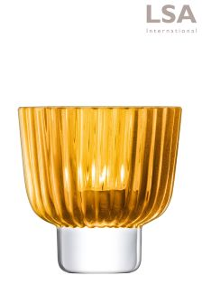 LSA International Amber Pleat Tealight Holder