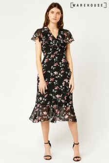 Warehouse Multi Constantine Floral Dress