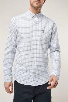 Long Sleeve Grid Check Shirt