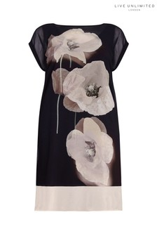 Live Unlimited Black Poppy Overlay Dress