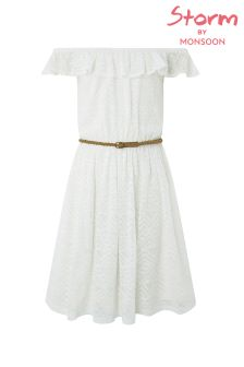 Monsoon Ivory Lois Lace Dress