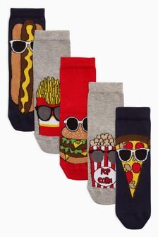 Fast Food Socks Five Pack (Older Boys)