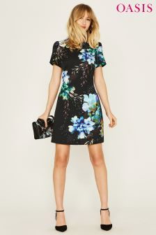 Oasis Black Fairytale Shift Dress