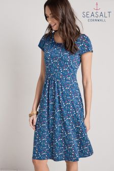 Seasalt Blue Wild Flowers Night Sea Board Dress