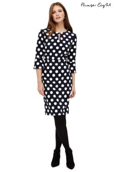 Phase Eight Navy/Ivory Katlyn Spot Dress