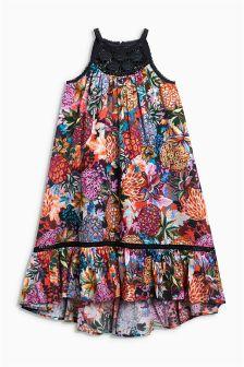 Crochet Printed Maxi Dress (3-16yrs)