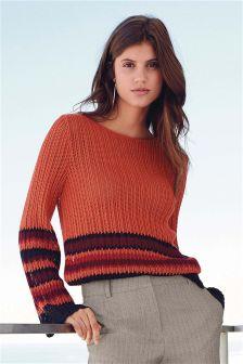 Tie Back Stitch Sweater
