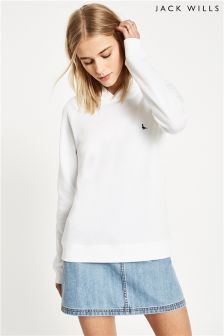 Jack Wills White Ridgen Lightweight Hoody