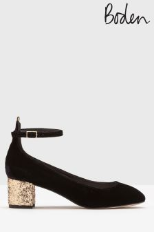 Boden Black Catherine Mid Heel Shoe