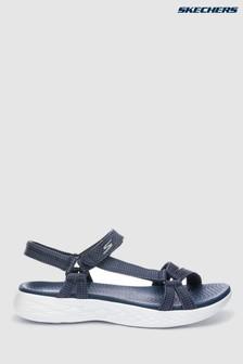 Skechers® Blue On The Go 600 Brilliancy Navy Strap Sandal