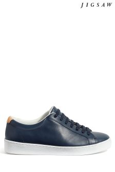 Jigsaw Blue Amour Lace-Up Trainer
