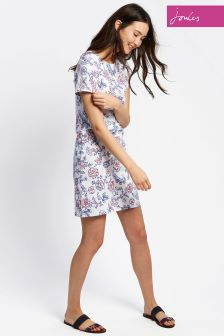 Joules White Floral Riviera Print Dress
