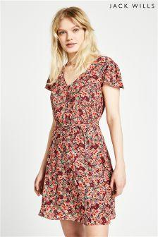 Jack Wills Pink Perwent Soft Tea Dress
