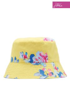 Joules Yellow Floral Reversible Hat