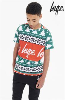 Hype Printed Christmas T-Shirt
