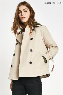 Jack Wills Camel Dollyhill Swing Trench Coat