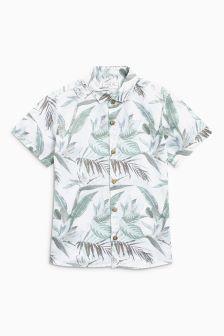 Short Sleeve Linen Rich Shirt (3mths-6yrs)