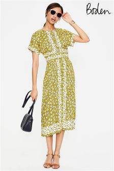 Esmeralda yellow floral beaded dress