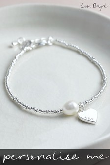 Sterling Silver Plated Bracelet with Freshwater Pearl