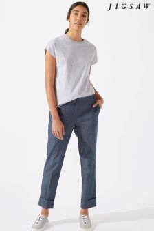 Jigsaw Blue Denim Savannah Trouser