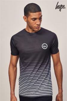 Hype. Mono Stripe Fade Crest T-Shirt