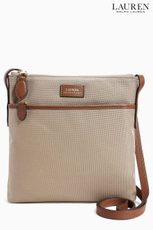 Lauren Ralph Lauren Beige Nylon Cross Body Bag