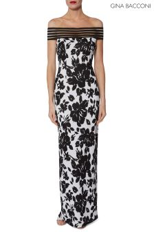 Gina Bacconi Jordana Printed Maxi Dress