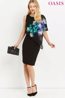 Oasis Black Fairytale Chiffon Dress