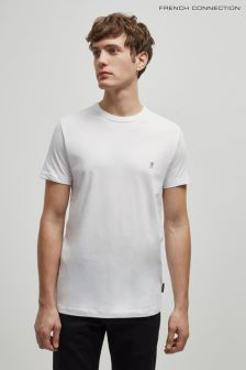 French Connection White/Marine Classic Crew Neck T-Shirt