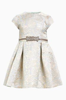 Metallic Jacquard Prom Dress (3-16yrs)