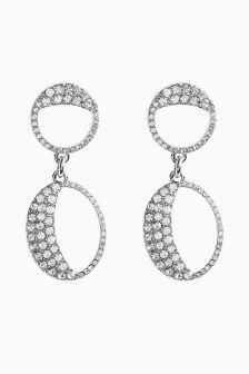 Jewelled Loop Drop Earrings