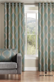 Jeff Banks Teal Cyrus Curtains