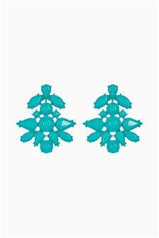 Opaque Jewelled Drop Earrings