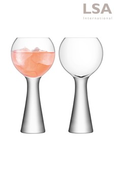 Set of 2 LSA International Moya Balloon Glasses