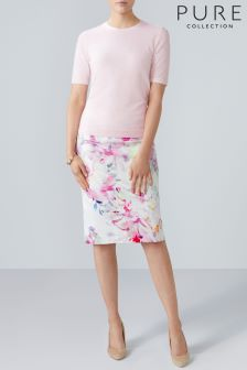 Pure Collection White Pencil Skirt